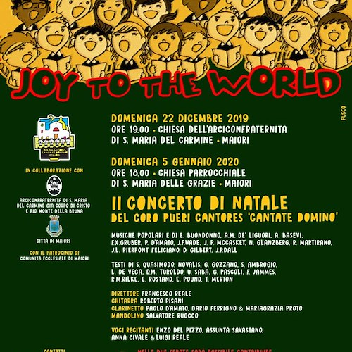 """Joy to the world"", a Maiori il secondo Concerto di Natale del Coro Pueri Cantores ""Cantate Domino"""