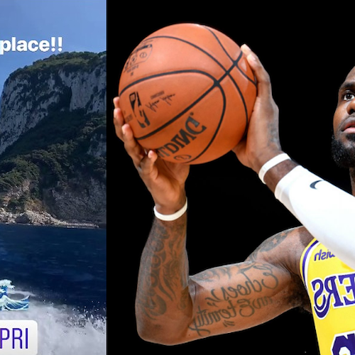 "Lebron James torna in Italia: per ""The King"" vacanze tra Capri e Costiera"